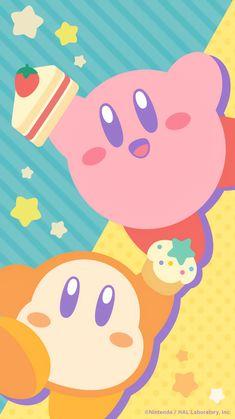 Cute Wallpaper For Phone, Kawaii Wallpaper, Cute Wallpaper Backgrounds, Cute Wallpapers, Kirby Character, Game Character, Kirby Nintendo, Game Themes, Video Game Art