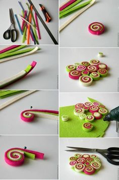 Manualidades Paso A Paso - Diy Crafts Paper Quilling Designs, Quilling Patterns, Quilling Art, Clay Crafts, Felt Crafts, Fabric Crafts, Kids Crafts, Fabric Beads, Paper Beads