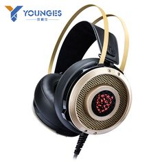 Original imported stereo headphones professional metal plugs Professional high-quality noise reduction game headphones