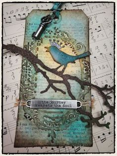 Here's another of Tim Holtz's 12 Tags of 2012.