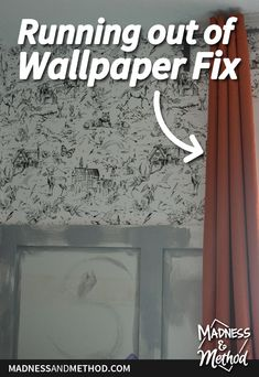 Have you ever installed wallpaper? Read about how to fix it when you realize that you're running out of wallpaper midway through a project! Wallpaper Fix, How To Install Wallpaper, Closet Nook, Wallpaper Companies, Run Out, Red Walls, When You Realize, Wainscoting, Outdoor Projects