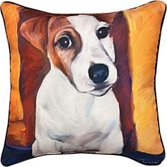 Weavers Manual Baby Jack Russell color Throw Pillow