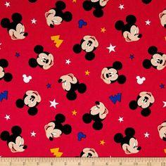 Disney Fabric: Disney Nursery Baby Mickey Traditional Mickey Heads and M Logo on Red cotton Fabric By The Yard Baby Mickey, Mickey Head, Mickey Minnie Mouse, Disney Quilt, Disney Fabric, Wallpaper Iphone Disney, Cellphone Wallpaper, Cotton Bedding Sets, Disney Nursery