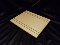 Maple Cutting Board w/ Jatoba Pinstripes by DPcustoms on Etsy