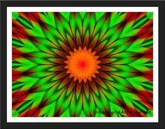 Green MandalaDownloadable Fine Art PrintWill by UrbanDigitalArt, $2.95