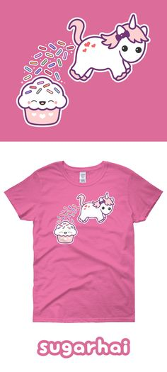 Super cute pooping unicorn t-shirts in my Etsy shop. Click to see multiple colors.