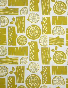 roddy&ginger — Logpile wallpaper in moss yellow