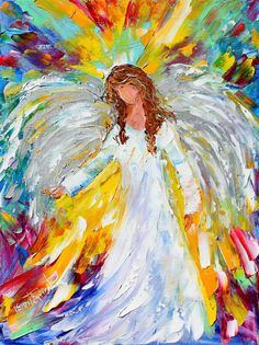 Original oil ANGEL PALETTE KNiFE by Karensfineart
