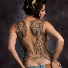 Latest Wings Tattoo For Girls 2013