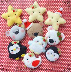 fieltro variado navideño estrellitas y osos