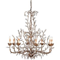 Crystal bud chandelier, large ($3,179) ❤ liked on Polyvore featuring home, lighting, ceiling lights, crystal chandelier lighting, crystal chandelier, crystal ceiling lamp, flower light and crystal hanging lights
