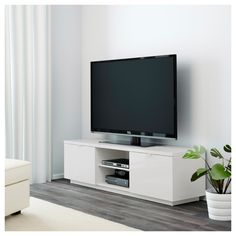 BYÅS TV unit - high gloss white - IKEA