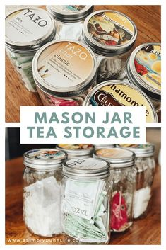 Luxury kitchen: 65 photos of projects to inspire - Home Fashion Trend Mason Jar Meals, Mason Jar Lids, Mason Jar Crafts, Mason Jar Kitchen Decor, Kitchen Ideas, Mason Jar Storage, Tea Storage, Food Storage, Pantry Storage