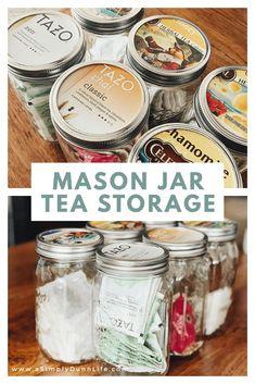 Luxury kitchen: 65 photos of projects to inspire - Home Fashion Trend Mason Jar Storage, Tea Storage, Food Storage, Pantry Storage, Mason Jar Meals, Mason Jar Lids, Mason Jar Crafts, Mason Jar Kitchen Decor, Kitchen Ideas