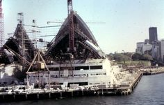 Sydney Opera House under construction 1965