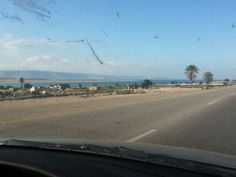 southern end of the dead sea - Israel is on the other side