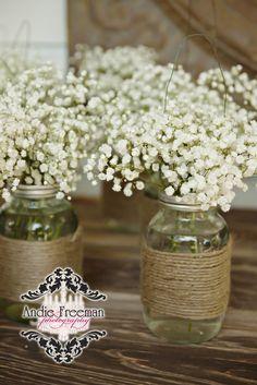 Southern Elegant Barn Wedding | Rustic Wedding Centerpieces ...