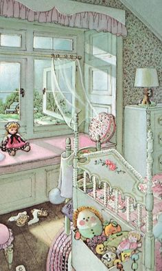 I think my interest in dolls houses and decorating stemmed from Eloise Wilkins' illustrations of rooms. :}
