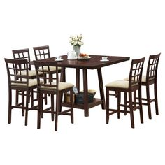 <3 You should see this Katelyn 7 Piece Counter Height Dining Set in Espresso on Deals + Modern Design Ideas | AllModern