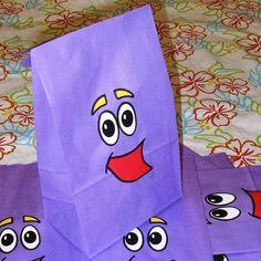 Backpack Birthday Party Favor Treat Sacks Dora the Explorer Theme Goody Bags