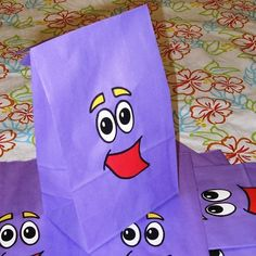 Backpack Birthday Party Favor Treat Sacks Dora the Explorer Theme Goody Bags