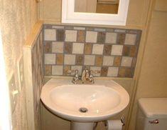 Badezimmer Waschbecken Backsplash Ideen