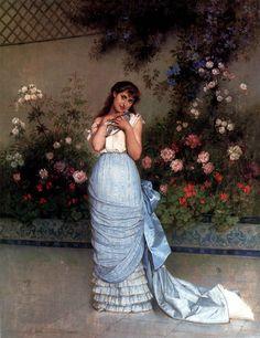 An Elegant Beauty (Auguste Toulmouche - 1883)