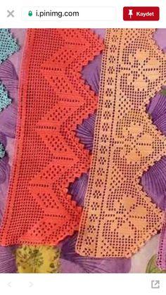 Firdevs's 814 media content and analytics Crochet Doily Rug, Crochet Scrubbies, Crochet Curtains, Crochet Borders, Crochet Poncho, Filet Crochet, Crochet Gifts, Easy Crochet, Crochet Stitches