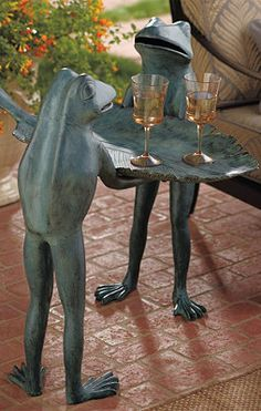 Frog Tray Table.  I love Frogs.  Seriously, I already have some..bunnies and frogs.  :-D