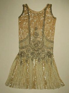 1920's Beaded Flapper Dress.
