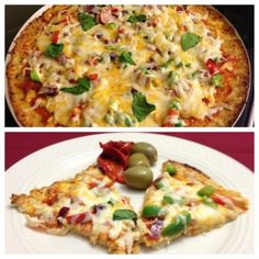 Ripped Recipes - Cauliflower Pizza - Great healthy meal that can be enjoyed by everyone! Gluten-free pizza that is low in calories.