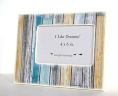 4 x 6 Picture Frame  Beach House Picture Frame by Mmim on Etsy, $22.00
