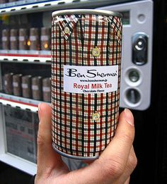 Ben Sherman Royal Milk Tea. How about this plaid can #packaging PD
