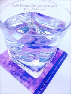 Infuse you water with the healing power of color therapy! This is the beautiful violet card. Violet's energy is spiritual, meditative, artistic and imaginative. Drink in the beautiful colors and may love and light fill every cell in your body. ♥ Robyn