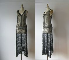 vintage+1920s+dress+/+20s+beaded+flapper+dress+by+Dronning+on+Etsy,+$895.00