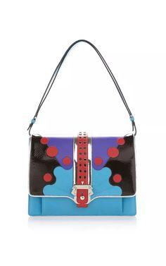 Blue Faye Top Handle Bag by Paula Cademartori