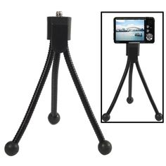 [USD0.42] [EUR0.40] [GBP0.31] Table Portable Tripod Stand for Digital Cameras, Max Height: 120mm