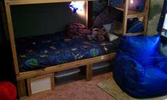 Diy dorm room crafts : DIY Ikea Kura bed converted to bunkbed