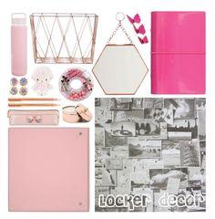 """Locker decor"" by blueeyed-dreamer ❤ liked on Polyvore featuring interior, interiors, interior design, home, home decor, interior decorating, FiloFax, Bloomingville, Madam Stoltz and Sunnylife"