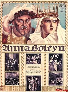Best Film Posters : ANNA BOLEYN   (Ernst Lubitsch 1920) The story of the ill-fated second wife of
