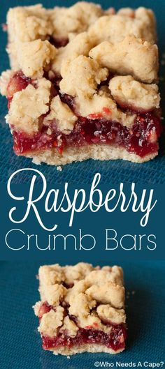 Raspberry crumb bars are sweet and tart at the same time. The butter crumbs and - Raspberries - Ideas of Raspberries - Raspberry crumb bars are sweet and tart at the same time. The butter crumbs and the raspberries compliment each other so well. 13 Desserts, Delicious Desserts, Raspberry Dessert Recipes, Raspberry Ideas, Desserts With Raspberries, Raspberry Recipes Healthy, Raspberry Popsicles, Raspberry Muffins, Plated Desserts