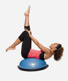 Tone up in just 15 minutes with this total-body BOSU-ball workout.