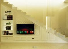 Ruang keluarga pada bawah tangga
