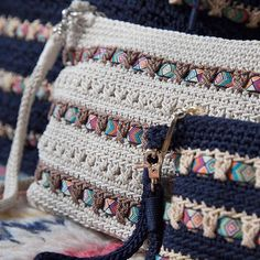 Check out our new arrivals in leather and crochet bags and accessories. Shop for the latest crafted leather and crochet bags, hobos, satchels, totes, crossbodies and more! Crochet Clutch, Crochet Handbags, Crochet Purses, Crochet Bags, Crochet World, Diy Crochet, Crochet Stitches, Crochet Patterns, Diy Bags Purses