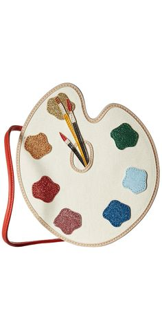 Creativity is her bag.  Paint her day pretty and adorn her with the artistic expression of the #StellaMcCartney #Kids Popsicle #Glittered #Paint Palette #Bag.  #bags #handbags #child #children #girls #accessory #accessories