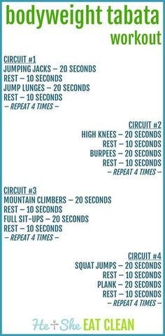 This style of workout is Tabata style. Tabata training is a great way to get your heart rate up quickly and then recover. You will do each exercise for 20 seconds and then rest for Body Weight, Weight Loss, Losing Weight, Reduce Weight, Weight Lifting, I Work Out, Lose Belly Fat, Get In Shape, At Home Workouts