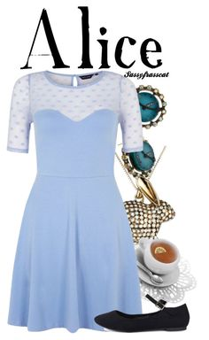 """Alice (Alice in Wonderland)"" by extraterrestrial-whispers ❤ liked on Polyvore featuring Betsey Johnson, Lucky Brand and Le Chou Chou Bijoux"