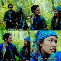 """#The100 4x04 """"A Lie Guarded"""" - Murphy and Emori"""