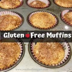 Great basic recipe for gluten free muffins- add-ins pumpkin, or carrot, or blueberry or apple, Carrot Muffins, Vegan Muffins, Gluten Free Muffins, Gluten Free Recipes, Vegan Recipes, Grab And Go Breakfast, Cookie Desserts, Yummy Snacks, Quick Easy Meals