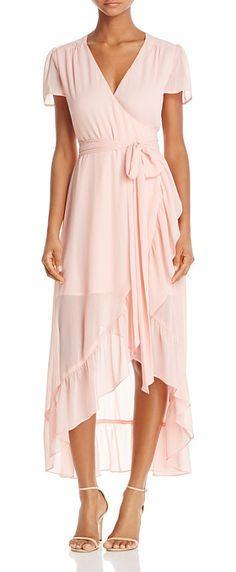 86fdc01c14a1 Ruffle Short-Sleeve Wrap Dress - 100% Exclusive by Wayf. Wayf Ruffle Short